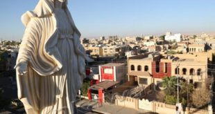 تمثال السيدة العذراء في بلدة عنكاوا/ أربيل