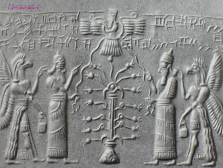 Assyrian Seal, Showing the tree of Life